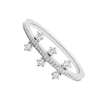 White gold diamonds triple ring 0.18 ct, J03344-01, hi-res