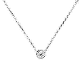 Collier diamant 0,10 or blanc, J04007-01-10, hi-res