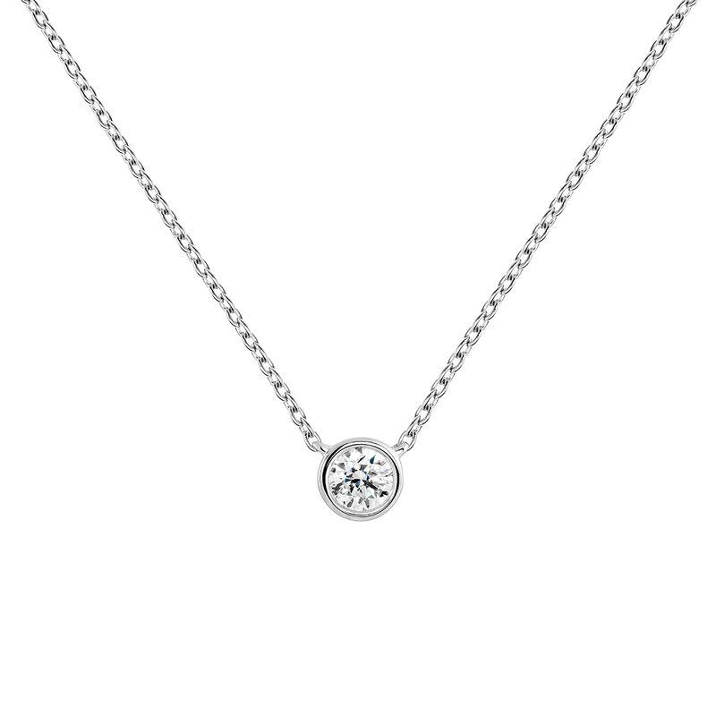White gold 0.10 ct. diamond necklace, J04007-01-10, hi-res