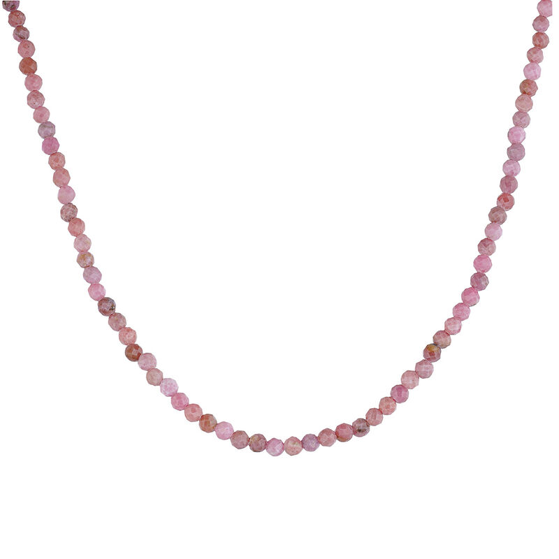 Gold plated ball chain rhodonite necklace, J04620-02-RO, hi-res