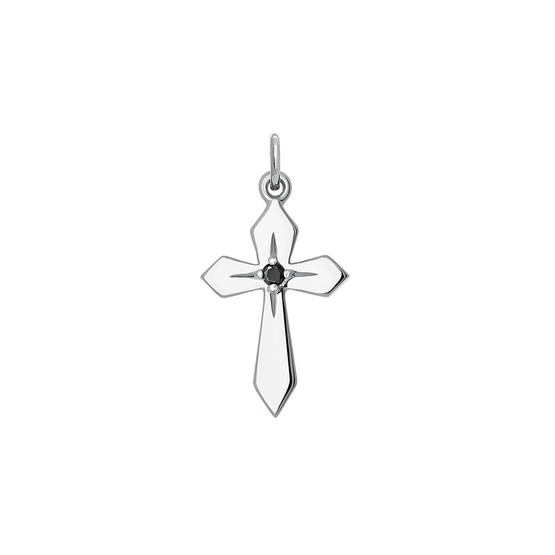 Colgante cruz espinela plata, J03973-01-BSN, hi-res