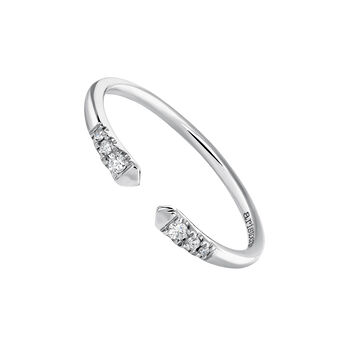 White gold You and I diamond ring 0.056 ct, J03882-01, hi-res