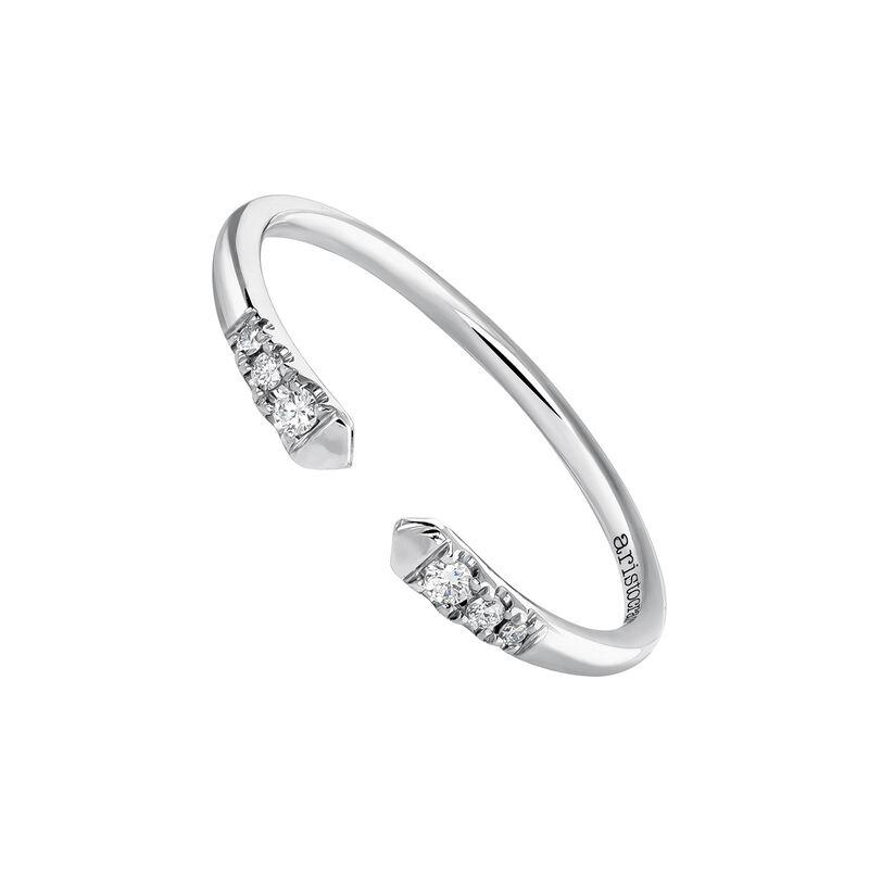 Anillo tú y yo diamantes oro blanco 0,056 ct, J03882-01, hi-res