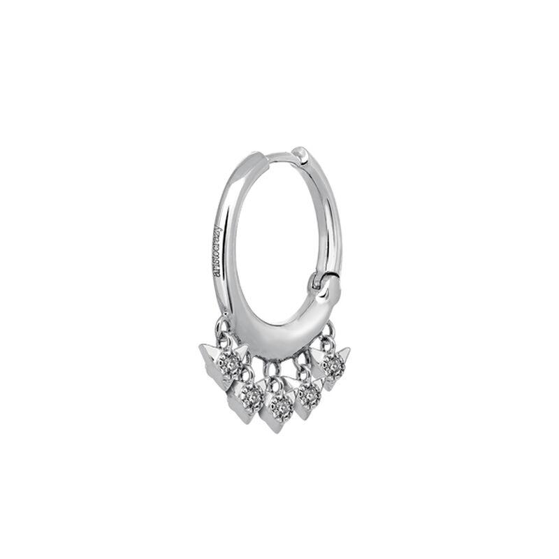 Pendiente aro diamantes 0,09 ctoro blanco 9 kt, J03388-01-H, hi-res