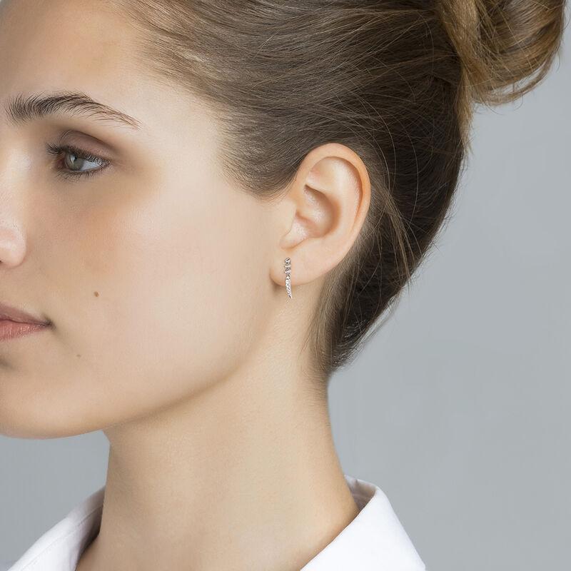 Boucle d'oreille piercing pics en or blanc diamant 0,05 ct, J03878-01-H, hi-res