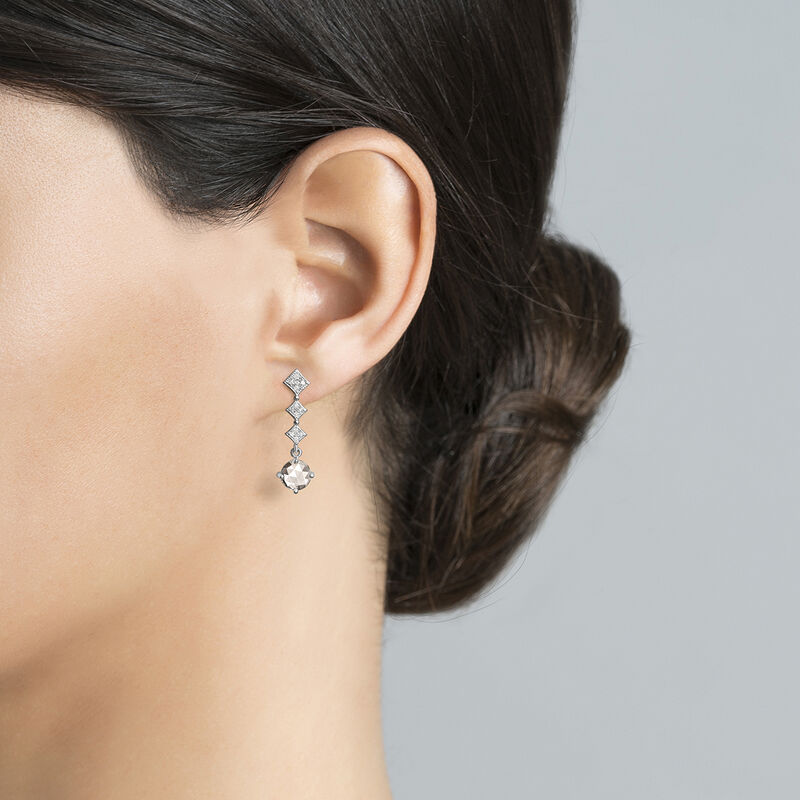 Silver vintage long earrings, J03797-01-WT-GD, hi-res