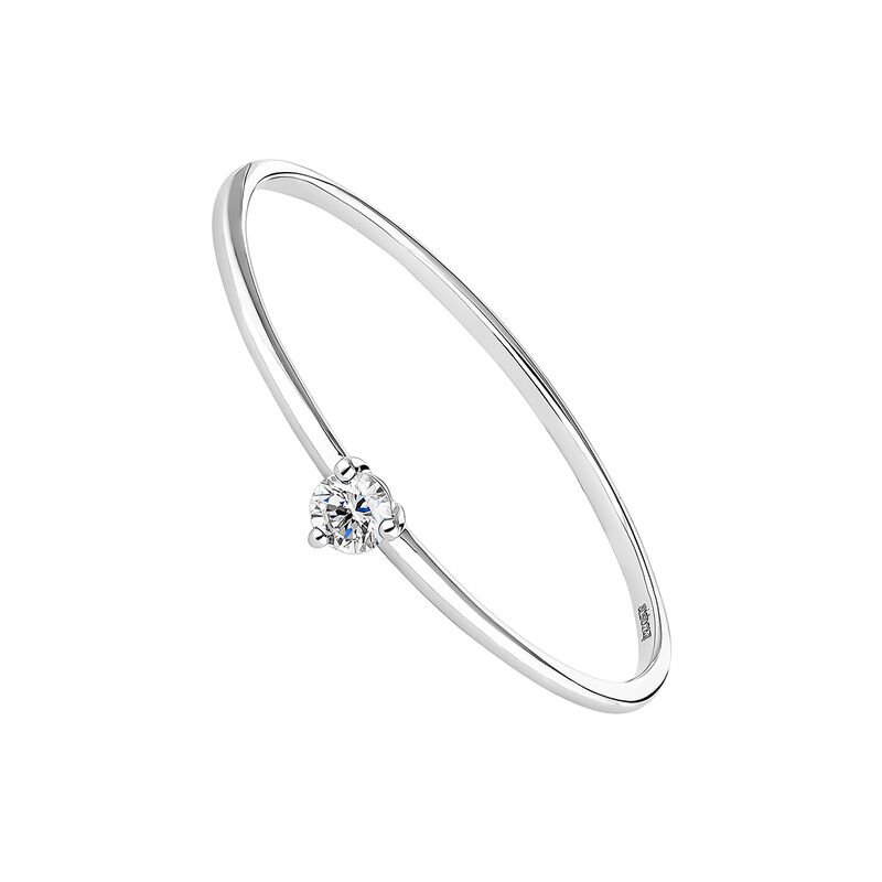 Bague solitaire diamant or blanc, J04437-01, hi-res