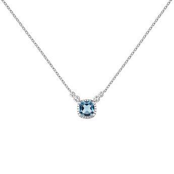 Silver topaz necklace, J04688-01-LB-WT, hi-res