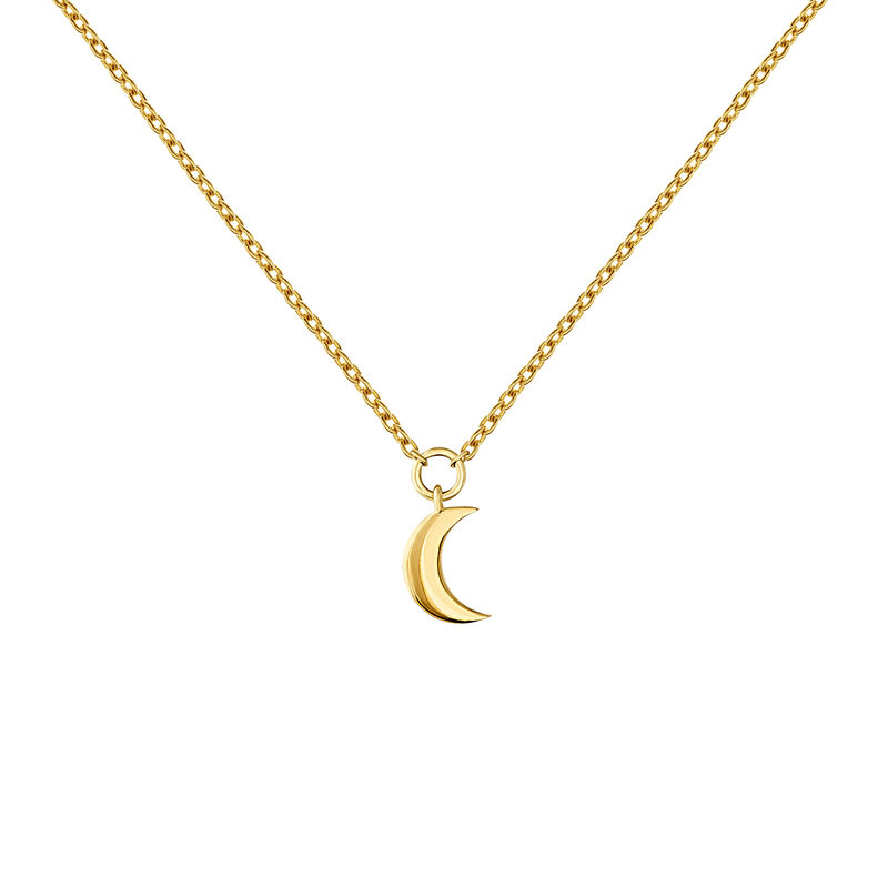 Gold moon necklace, J04544-02, hi-res