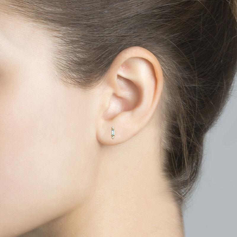 Boucle d'oreille topaze argent plaqué or, J04657-02-SKY-WT-H, hi-res