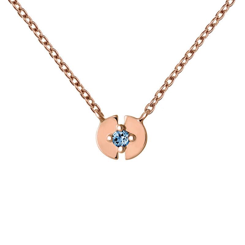 Colgante círculo topacio plata recubierta oro rosa, J03746-03-LB, hi-res