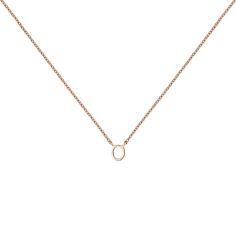 Collar inicial O oro rosa9 kt, J04382-03-O, hi-res