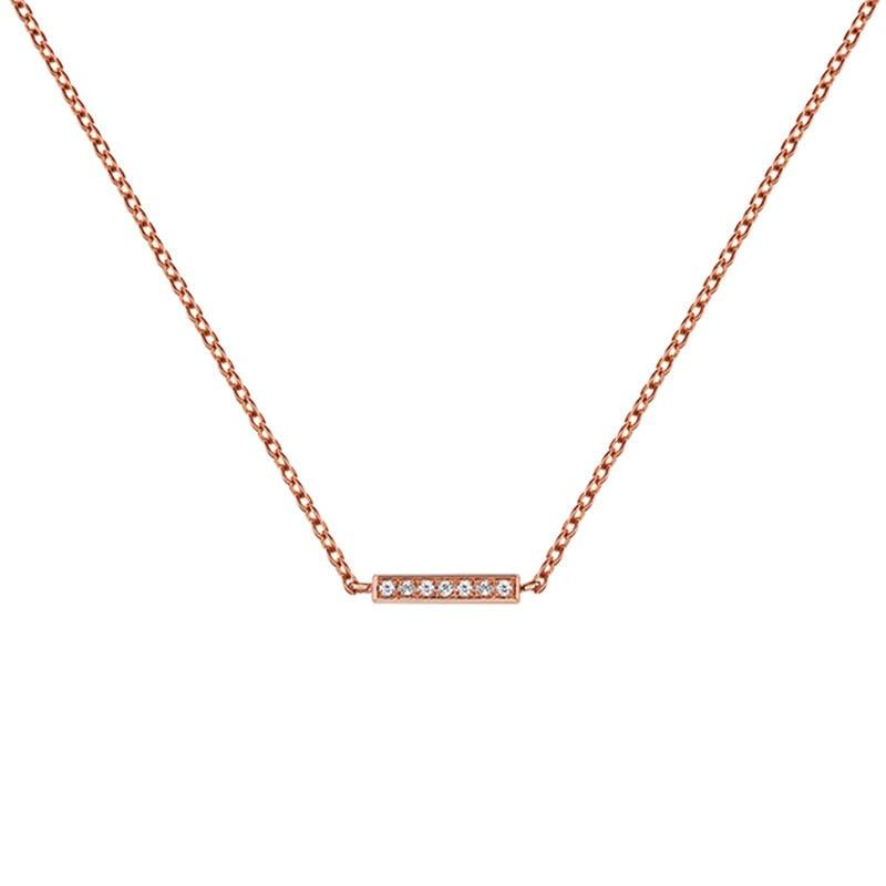 Collier barre topaze argent plaqué or rose, J03295-03-WT, hi-res