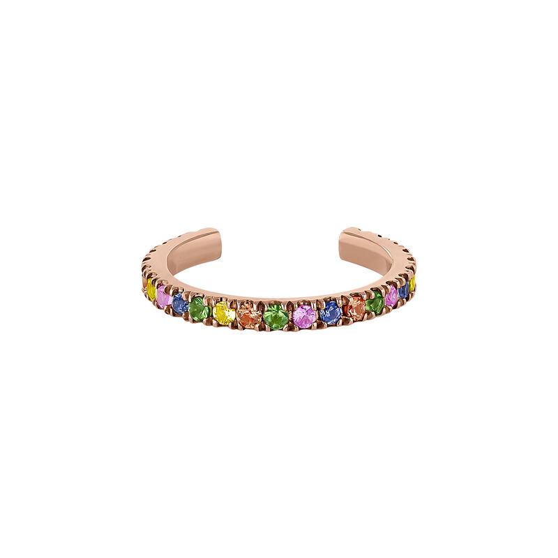 Pendiente cartílago piedras oro rosa 9 kt, J04335-03-MULTI-H, hi-res