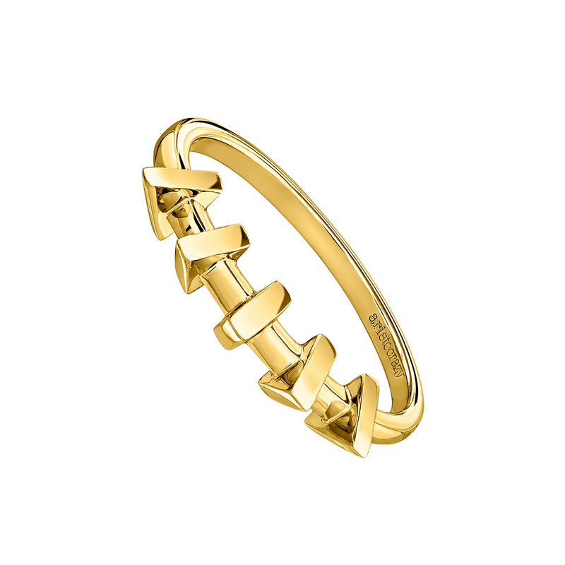 Gold plated triangle ring, J03967-02, hi-res
