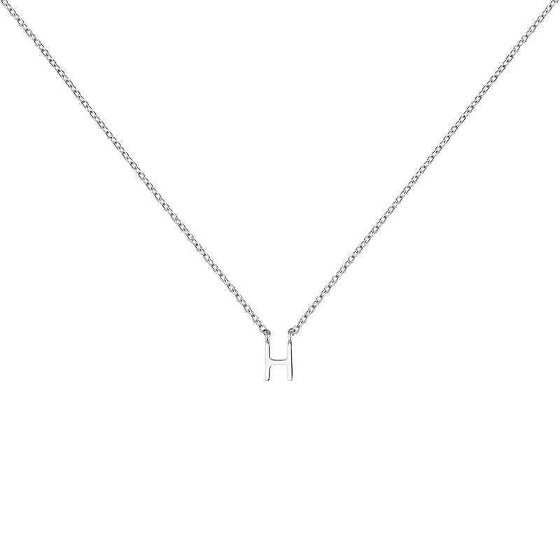 White gold Initial H necklace, J04382-01-H, hi-res