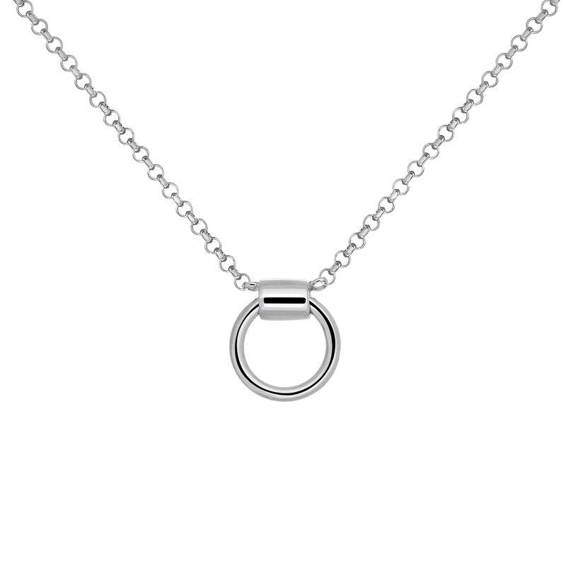 Silver hoop choker, J03477-01, hi-res