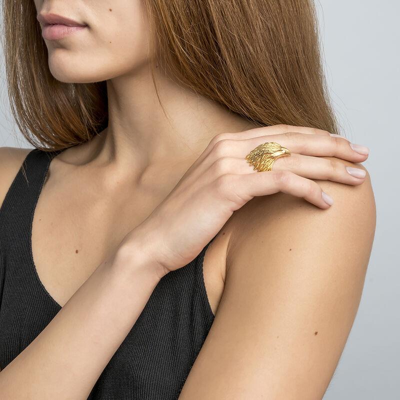 Large gold eagle ring , J01497-02, hi-res