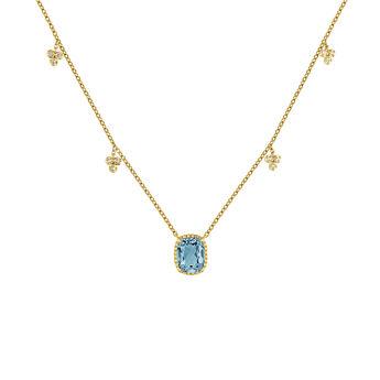 Gold plated topaz necklace, J04684-02-LB-WT, hi-res