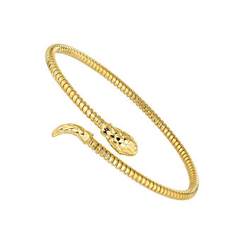 Thin gold plated tubogas snake bracelet, J04290-02, hi-res