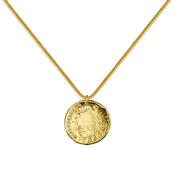 Collier monnaie or, J03590-02-WT, hi-res