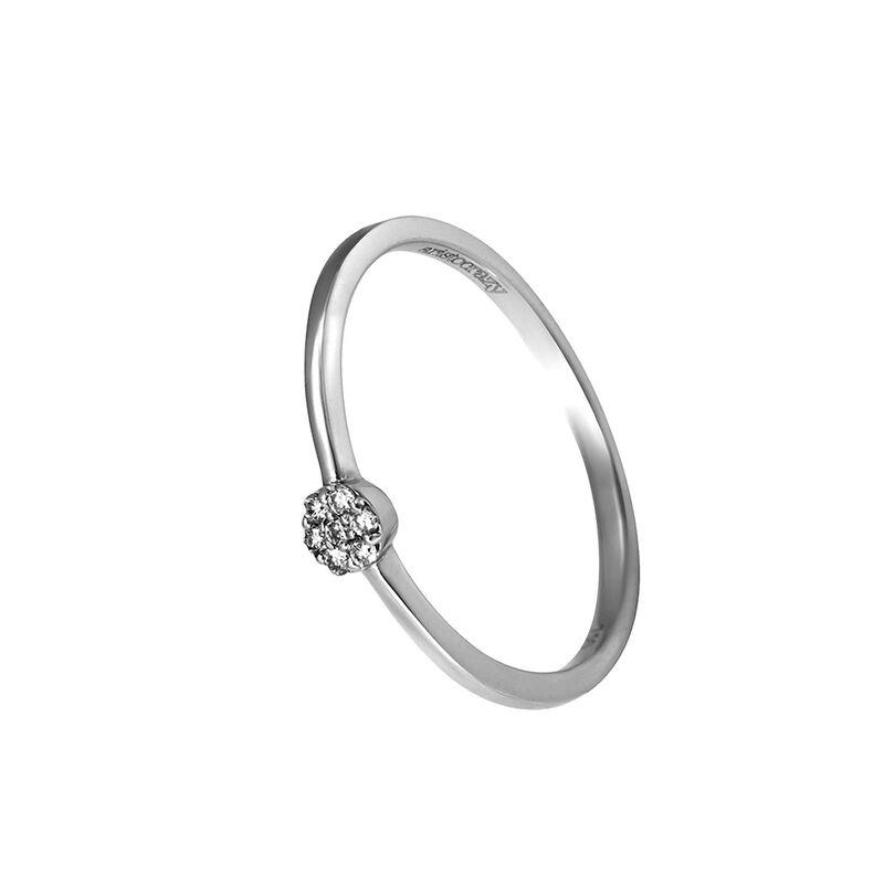 Anillo roseta  diamantes oro blanco 0,03 ct, J00380-01, hi-res