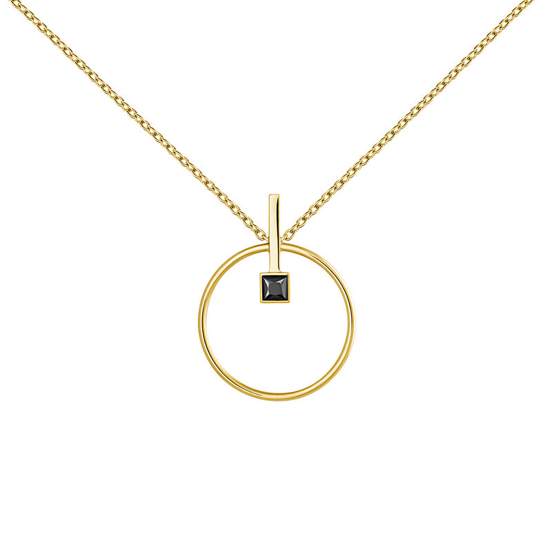 Gold plated spinel necklace, J04062-02-BSN, hi-res