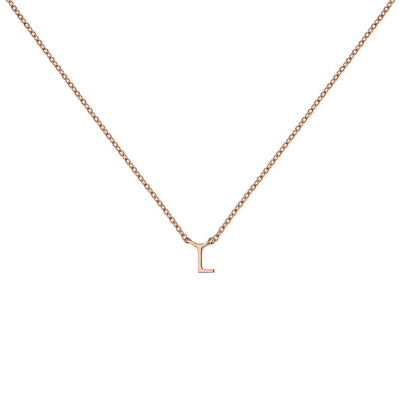 Collier initiale L or rose, J04382-03-L, hi-res