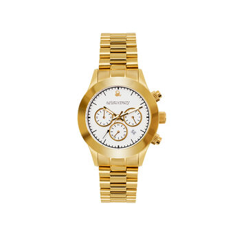 Soho watch gold bracelet white face. , W29A-YWYWWH-AXYW, hi-res