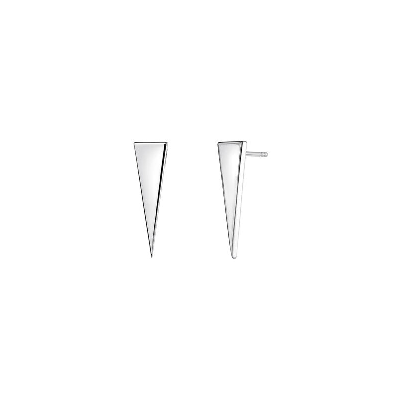 Silver triangle earrings, J03963-01, hi-res