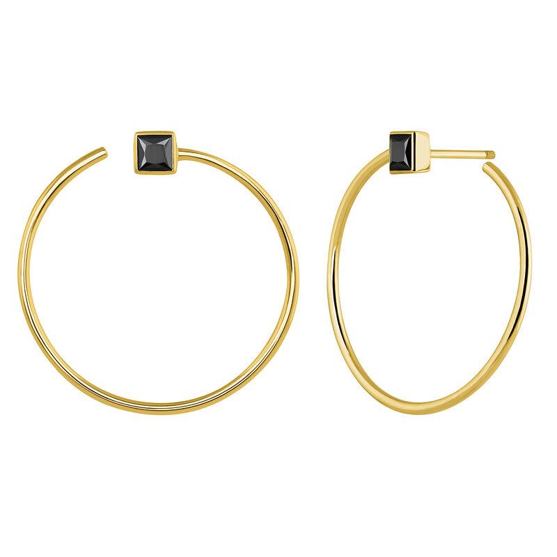 Pendientes de aro espinela oro, J04091-02-BSN, hi-res