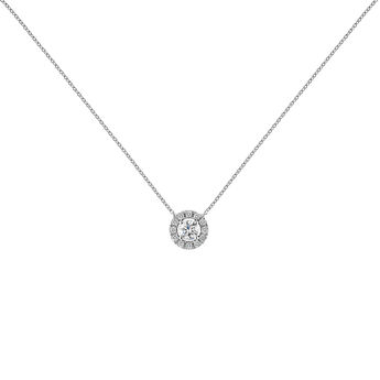 Collier bordure en diamants or blanc 0,20 ct, J04221-01-20-06, hi-res