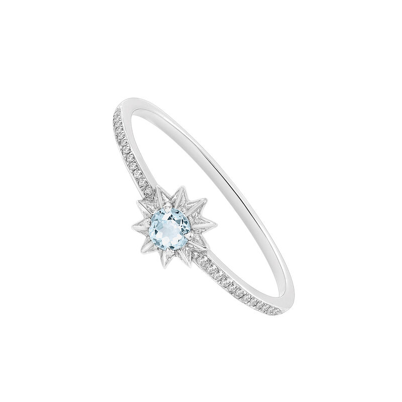 Silver ring with mini blue topaz, J03301-01-SKY-SP, hi-res