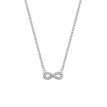 Collier infini diamants 0,05 ct, J03025-01, hi-res