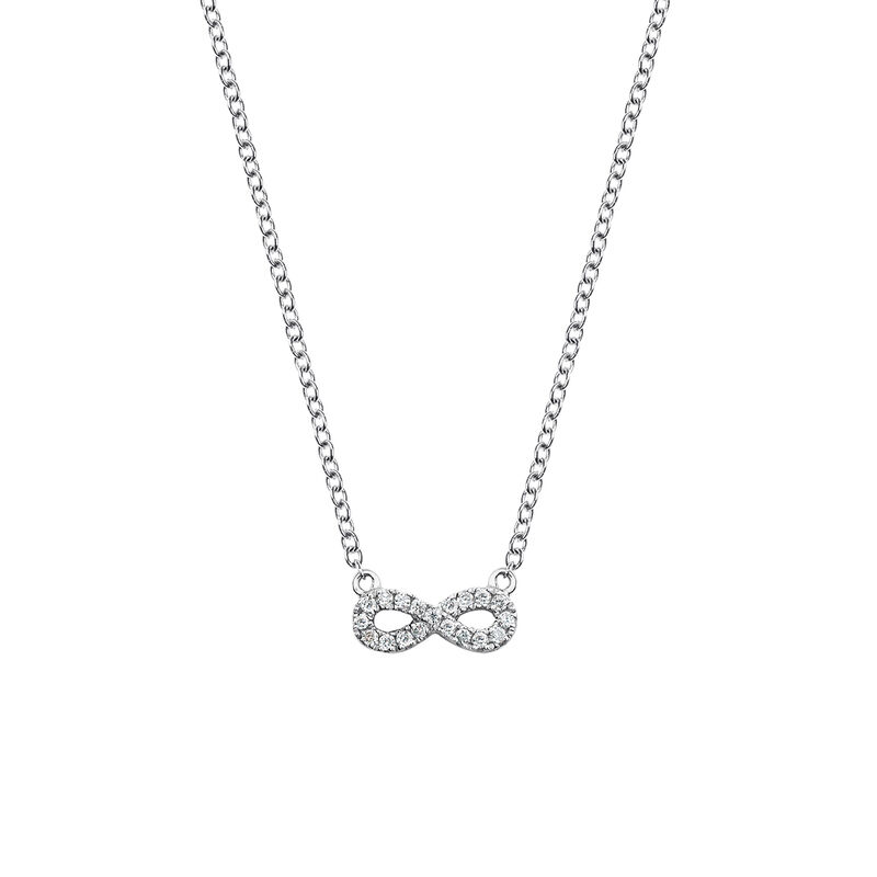 Infinity necklace diamonds 0.05 ct, J03025-01, hi-res