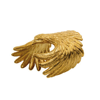 Gold eagle rigid bracelet, J01499-02, hi-res