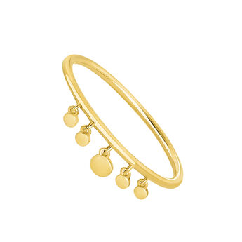 Gold sphere motifs ring, J04531-02, hi-res
