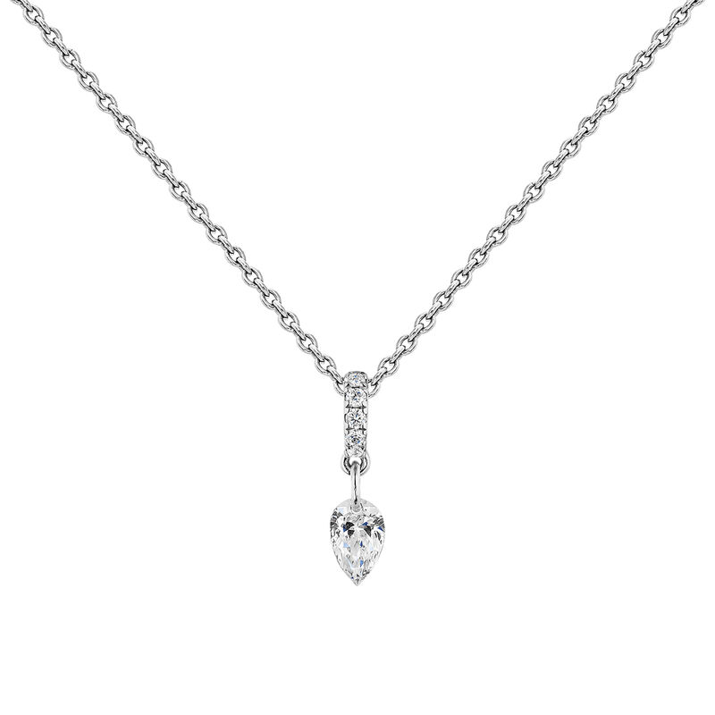 Collier diamants or blanc, J04432-01, hi-res