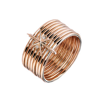 Rose gold Large Bohemian Ring, J03889-03-WT, hi-res