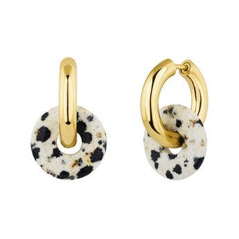 Gold plated silver jasper earrings, J04751-02-DJP, hi-res
