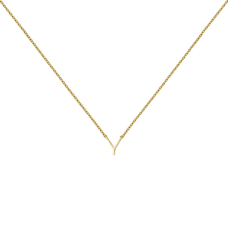 Collier initiale Y or, J04382-02-Y, hi-res