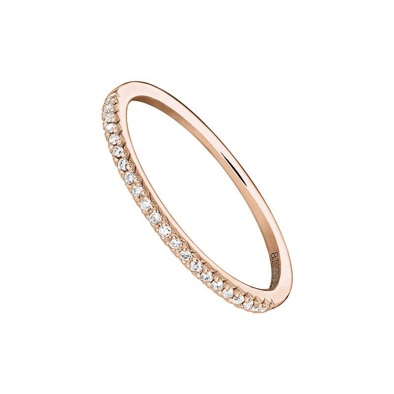 Rose gold border ring 0.09 ct. diamonds, J03938-03-09, hi-res