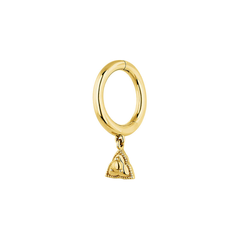 Gold triangle hoop piercing, J04377-02-H, hi-res