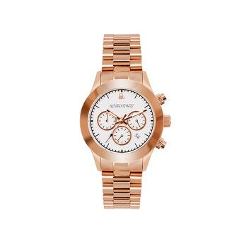 Montre Soho bracelet or rose cadran blanc , W29A-PKPKWH-AXPK, hi-res