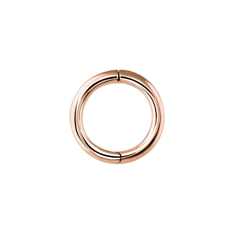 Pendiente piercing aro pequeño oro rosa, J03842-03-H, hi-res