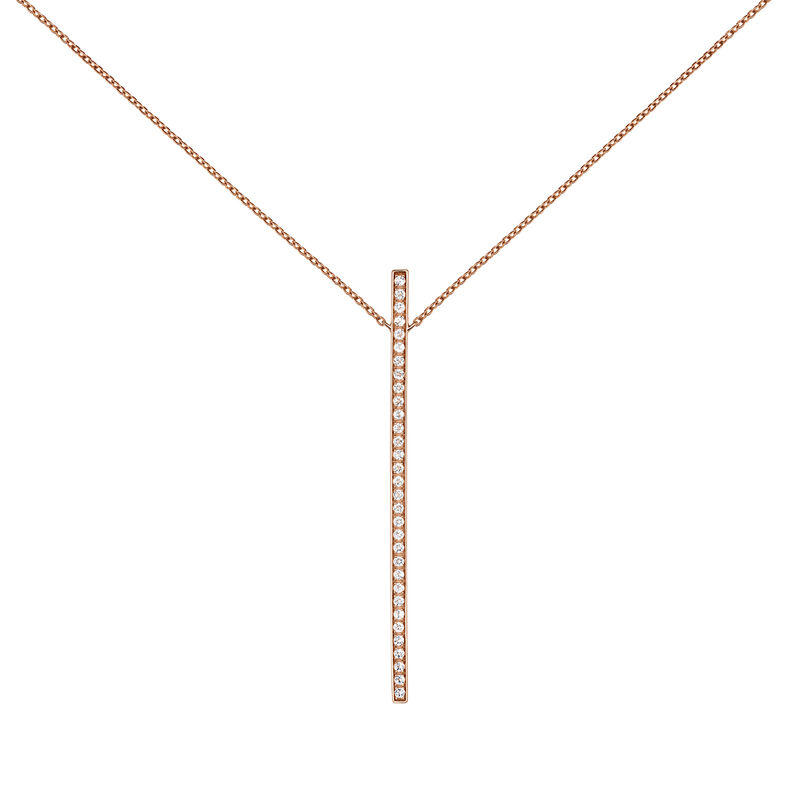 Rose gold topaz pendant necklace, PINKGOLDPLATED STERLING SILVER, hi-res