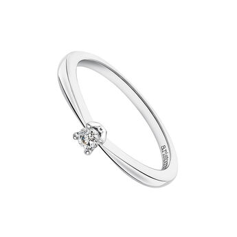 White gold solitaire ring 0.08 ct., J03398-01-08-GVS, hi-res