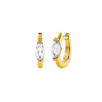 Boucles d'oreilles créoles topaze or , J03273-02-WT, hi-res
