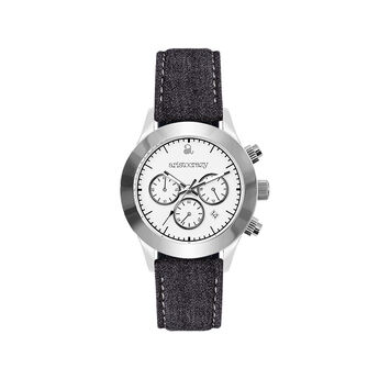 Soho watch grey strap white face., W29A-STSTWH-FAGR, hi-res
