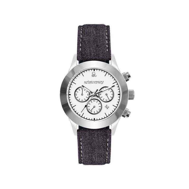 Soho watch grey strap white face., W29A-STSTWH-FAGR, hi-res
